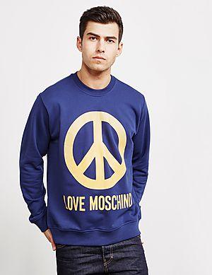 7427480f Love Moschino Large Peace Sweatshirt ...