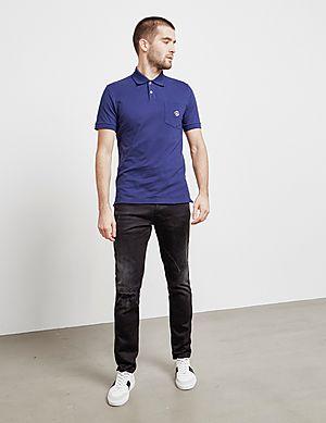 799178c60 ... Love Moschino Peace Logo Short Sleeve Polo Shirt