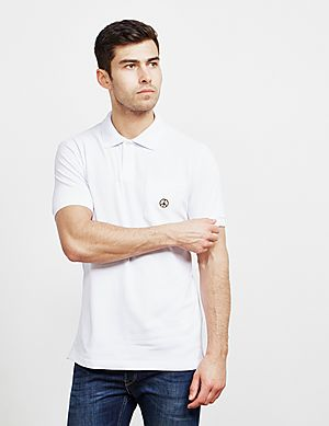 ee428ff7 Love Moschino Peace Logo Short Sleeve Polo Shirt ...