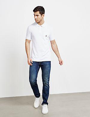 8968f169 ... Love Moschino Peace Logo Short Sleeve Polo Shirt