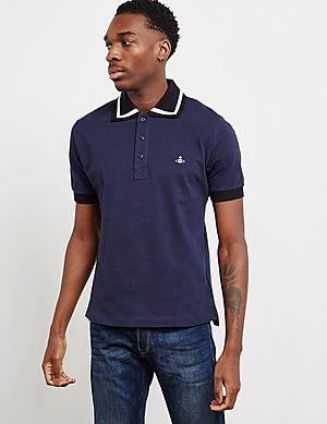 c59f67a5aa Vivienne Westwood Bold Tipped Short Sleeve Polo Shirt ...