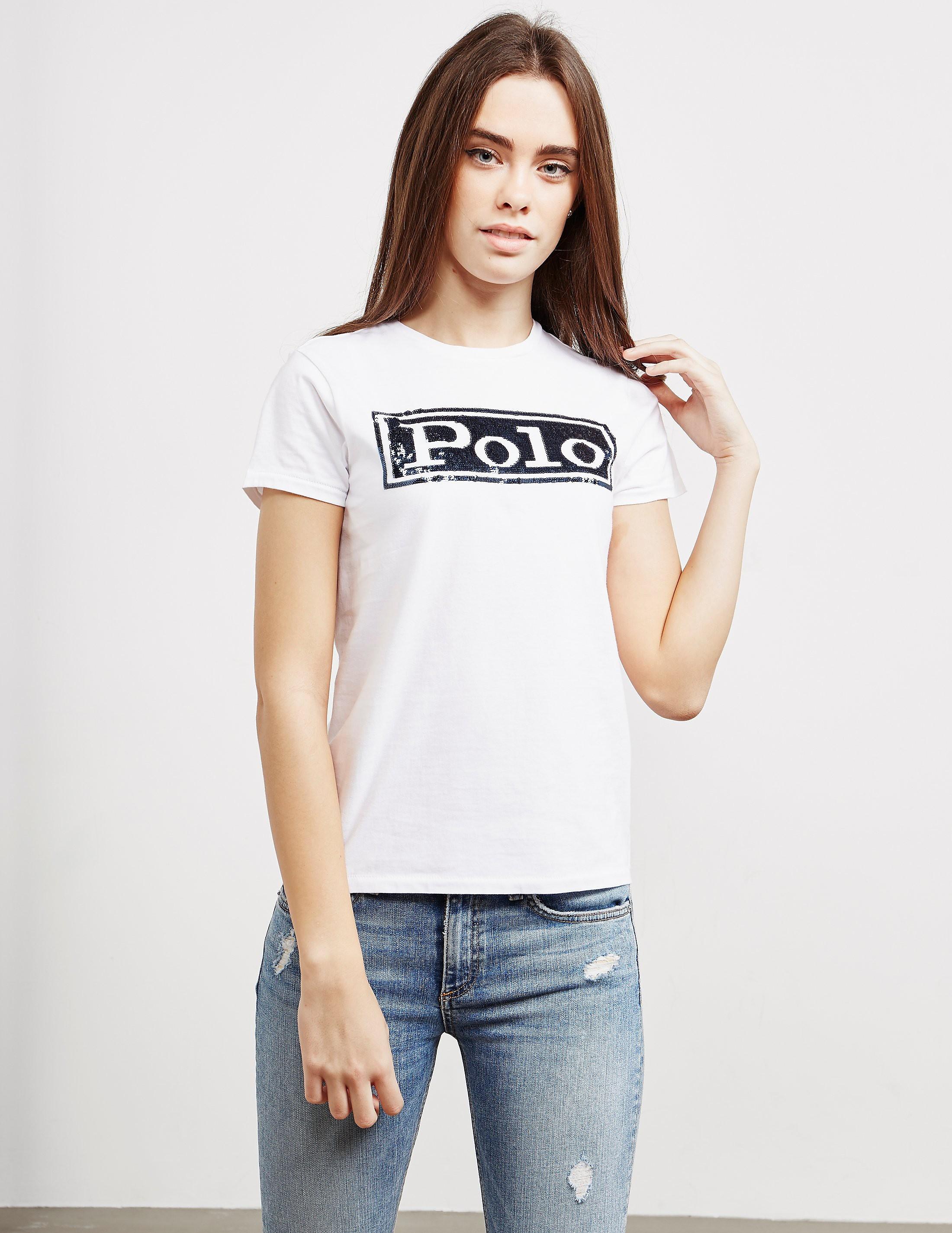 Polo Ralph Lauren Sequin Polo Short Sleeve T-Shirt
