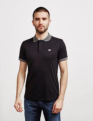 e2d53822bd Emporio Armani Contrast Collar Short Sleeve Polo Shirt ...