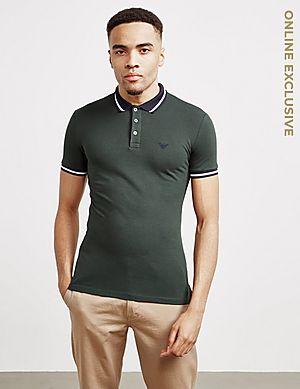 8f67427718 Emporio Armani Tipped Shine Logo Short Sleeve Polo Shirt ...