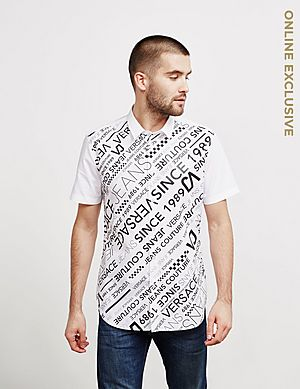 f12c8700b Versace Jeans Logo Short Sleeve Shirt - Online Exclusive ...
