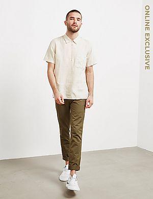 f7ef01f3 ... PS Paul Smith Linen Half Zip Short Sleeve Polo Shirt