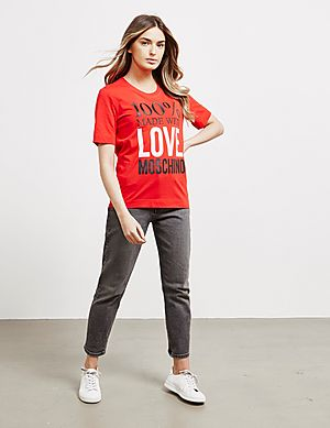 b2662e2d8 ... Love Moschino 100% Logo Short Sleeve T-Shirt