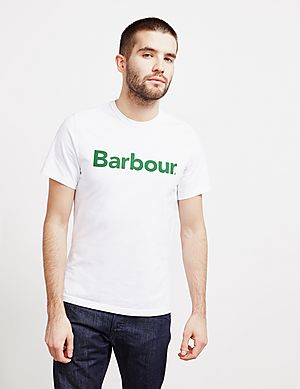 3a59fb22 Barbour Large Logo Short Sleeve T-Shirt ...