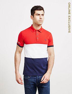 fb1fd423 Polo Ralph Lauren Short Sleeve Block Polo Shirt ...