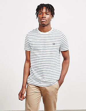 780c18fe Fred Perry Fine Stripe Short Sleeve T-Shirt ...