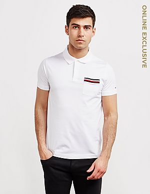 88193bbd Tommy Hilfiger Tipped Pocket Short Sleeve Polo Shirt ...