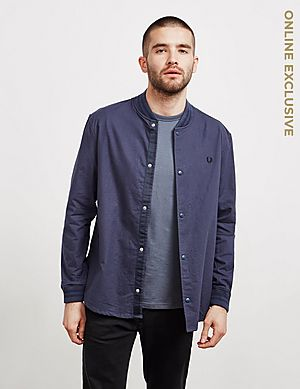 1f85d78b8d6 Fred Perry Long Sleeve Bomber Shirt ...