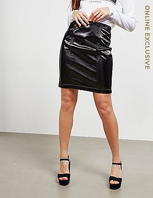 b38f4ef49 Armani Exchange Leather Skirt - Online Exclusive ...