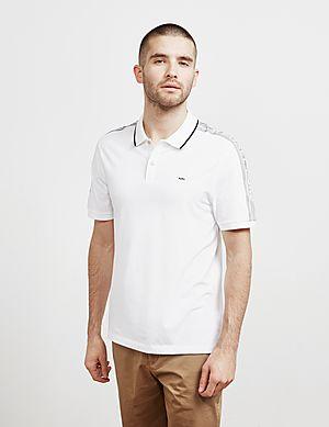 68530d5ae Michael Kors Tape Shoulder Short Sleeve Polo Shirt ...