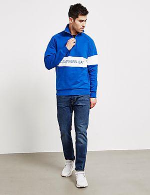 10294854e Calvin Klein Jeans Institutional Half Zip Sweatshirt Calvin Klein Jeans  Institutional Half Zip Sweatshirt