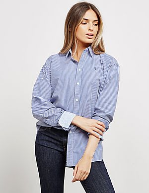 c395438ea Polo Ralph Lauren Ellen Stripe Long Sleeve Shirt ...