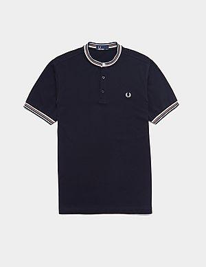 b5e752e73 Fred Perry Henley Pique Short Sleeve Polo Shirt ...