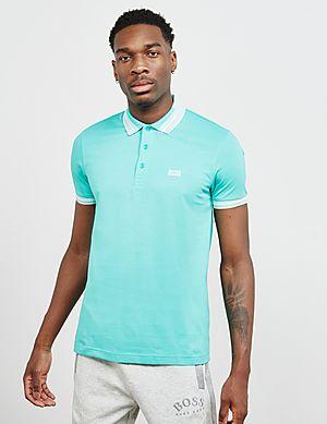 8646a9cf BOSS Paddy Tipped Short Sleeve Polo Shirt ...