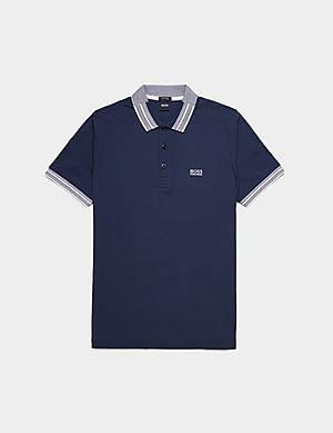 d41bba28 BOSS Paddy Tipped Short Sleeve Polo Shirt ...