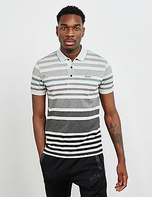 d892c8aa0 BOSS Paddy Stripe Short Sleeve Polo Shirt ...