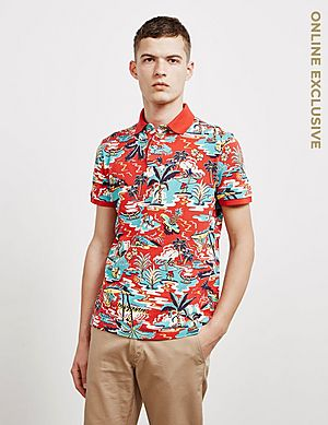 2afabee7 Polo Ralph Lauren Vintage Palm Tree Short Sleeve Polo Shirt ...