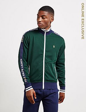 2ea74334 Polo Ralph Lauren Tape Zip Through Track Top ...