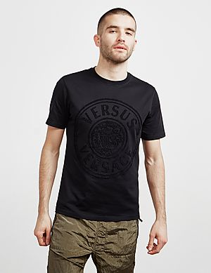 2fed660c Versus Versace Lion Logo Short Sleeve T-Shirt ...
