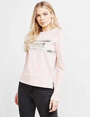 610f8db5354 Barbour International Silver Foil Sweatshirt ...