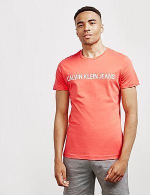 784055cb Calvin Klein Institutional Logo Short Sleeve T-Shirt ...