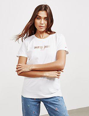 be329b44d Tommy Jeans Metallic Logo Short Sleeve T-Shirt ...