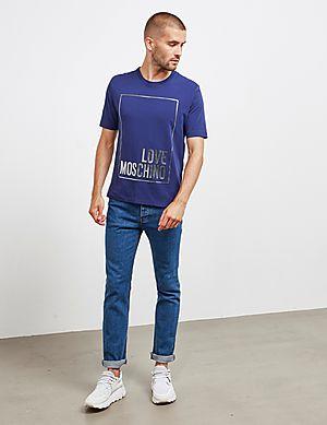 73645319c838c ... Love Moschino Stripe Box Short Sleeve T-Shirt