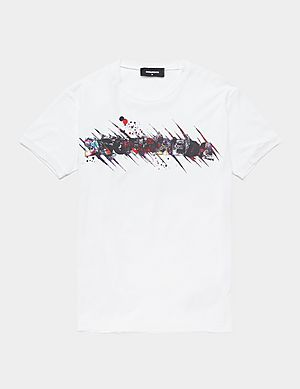 838a554bc9f5 Dsquared2 Sketch Logo Short Sleeve T-Shirt ...