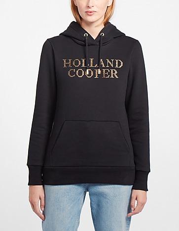 Holland Cooper Metallic Logo Hoodie