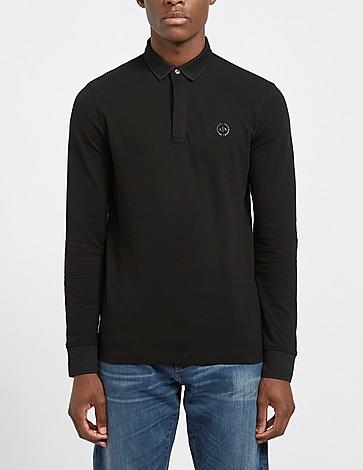 Armani Exchange Core Logo Long Sleeve Polo Shirt