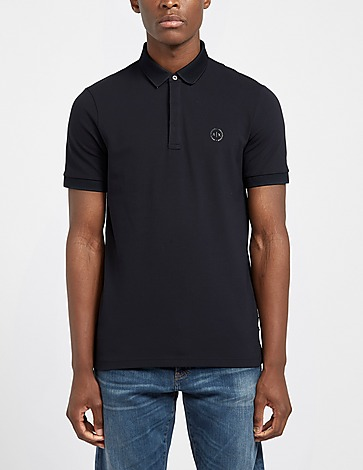 Armani Exchange Pique Collar Short Sleeve Polo Shirt