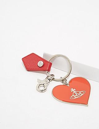 Vivienne Westwood Mirror Heart Key Chain