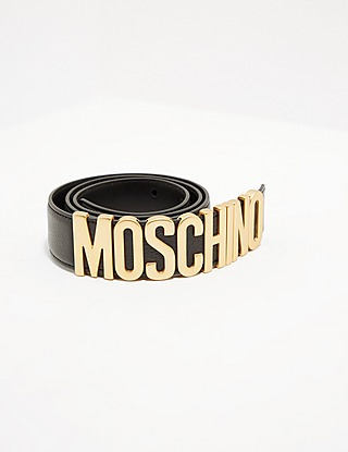 Moschino Gold Letter Belt