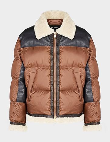 Neil Barrett Shearling Nylon Puffer Jacket