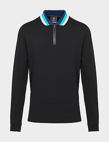 Sandbanks Tipped Zip Polo Shirt
