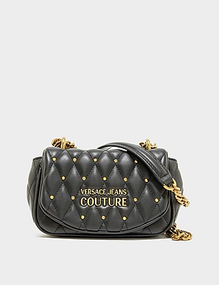 Versace Jeans Couture Stud Quilted Shoulder Bag