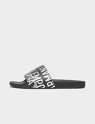 Emporio Armani Loungewear Glazed Logo Sliders