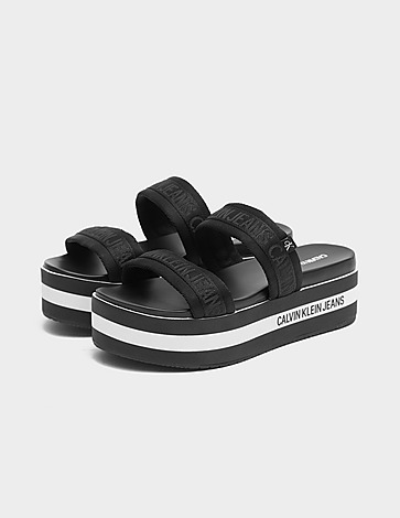 Calvin Klein Jeans Wedge Two Stripe Sandals