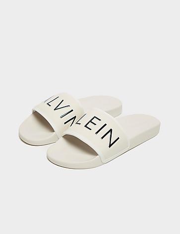 Calvin Klein Swim Split Logo Slides