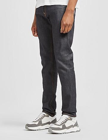 Evisu Seagul Print Raw Jeans