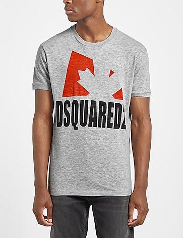 Dsquared2 Large Maple Leaf Text T-Shirt