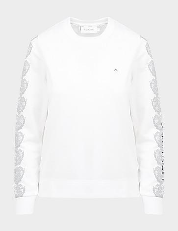 Calvin Klein Womenswear Print Sleeve Sweatshirt