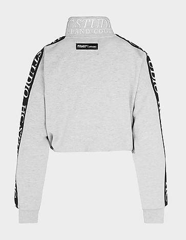 Holland Cooper Studio Crop Quarter Zip Sweatshirt
