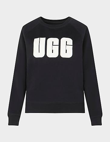 UGG Fuzzy Logo Crew Sweatshirt