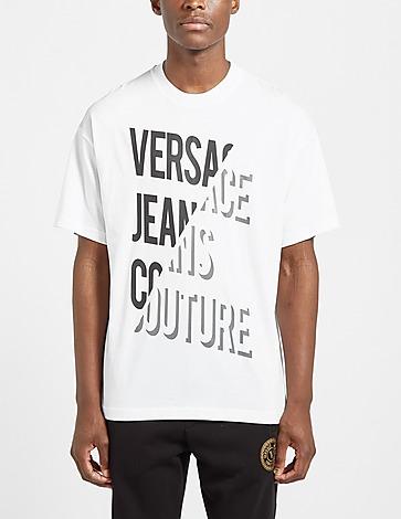 Versace Jeans Couture Split Text Reflective T-Shirt