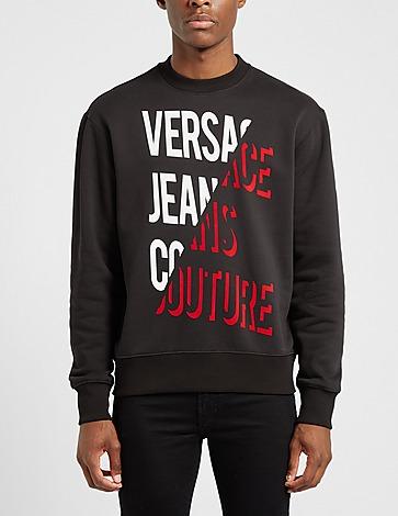 Versace Jeans Couture Split Text Sweatshirt